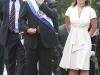 El presidente de la República, Mauricio Funes llegó junto a su esposa, Vanda Piganto a las 10:30 a.m. a Salón Azul de Asamblea Legislativa. Foto La Prensa.