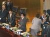 Antes de dejar las instalaciones del Salón Azul, el mandatario, Maurcio Funes se despidió de los miembros de la Junta Directiva del Órgano Legislativo.