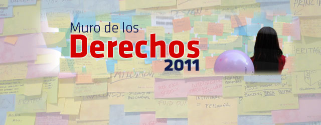 Reflexiones y propuestas sobre la carta de los principios y derechos fundamentales en Internet. Puedes verlos en la siguiente enlace. Muro de los Derechos 2011