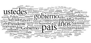 Discursos Presidente Funes, año 3, año 2 y año 1